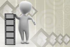 3d man film illustration Stock Photo