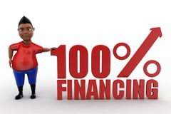 3d man 100% Financing Stock Photos