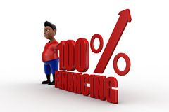 3d man 100% Financing Royalty Free Stock Photo