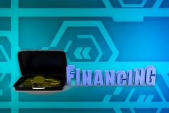 3d man financing illustration Stock Image