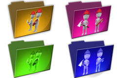 3d Man fire worker cconcept icon Royalty Free Stock Photos