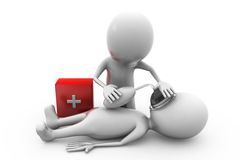 3d man first aid concept Stock Images