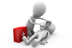 3d man first aid concept Royalty Free Stock Photo