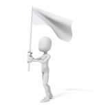 3d man and flag, protest concept Royalty Free Stock Photography
