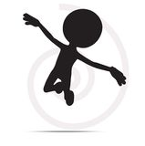 3d man flying with hands open. On white Royalty Free Stock Photography