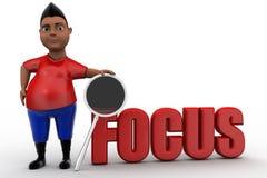 3d man focus concept Stock Images