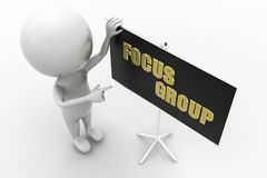 3d man focus group Royalty Free Stock Images