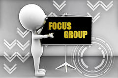3d man focus group illustration Royalty Free Stock Image