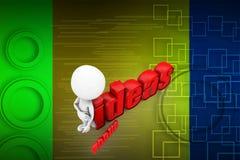 3d man focus ideas illustration Stock Photo