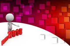 3d man with focus 2014 Royalty Free Stock Images