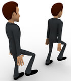 3d man following action of another man concept Stock Photo