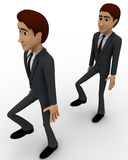 3d man following action of another man concept Royalty Free Stock Photos