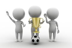 3d man football golden cup Stock Images