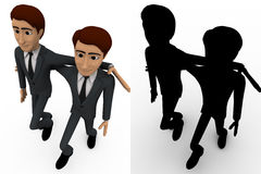 3d man friend walking and in good mood concept collections with alpha and shadow channel Royalty Free Stock Photography