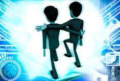 3d man friend walking and in good mood illustration Royalty Free Stock Photography