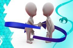 3d man friendly handshake  illustration Stock Photo