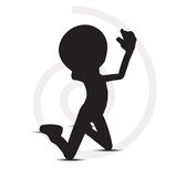 3d man gebedsilhouet Royalty-vrije Illustratie