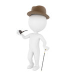 3d man gentleman. On white background Royalty Free Stock Images