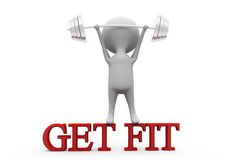 3d man get fit concept Stock Images
