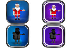 3d Man gift bag concept icon Royalty Free Stock Images