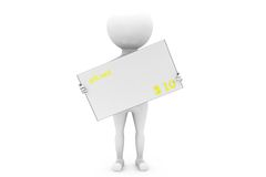 3d man gift card concept Royalty Free Stock Image