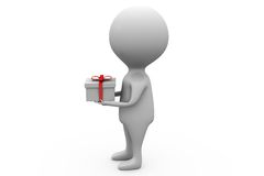3d man gift concept Stock Image