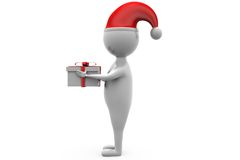 3d man with gift concept Stock Images