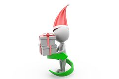 3d man gift growth concept Royalty Free Stock Photo