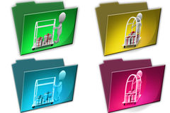 3d Man gifts carrier cconcept icon Royalty Free Stock Photos