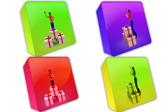 3d man gifts icon Stock Image