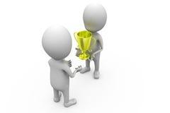 3d man give award concept Royalty Free Stock Photo