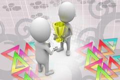 3d man give award  illustration Royalty Free Stock Images