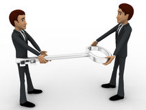 3d man giving key to another man concept Stock Images