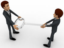 3d man giving key to another man concept Stock Image