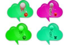 3d man go button icon Stock Photos