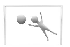 3d man goal keeper concept Royalty Free Stock Images