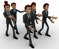 3d man going on own way concept Stock Image