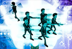 3d man going on own way illustration Stock Photography