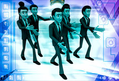 3d man going on own way illustration Royalty Free Stock Images