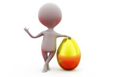 3d man golden egg concept Royalty Free Stock Photography