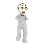 3D man in golden mask Stock Photos