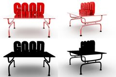 3d man good idea Concept Collections With Alpha And Shadow Channel Royalty Free Stock Photography