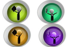 3D  Man graduate concept icon Royalty Free Stock Images