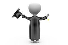 3d man graduation cap concept Stock Photography