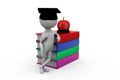 3d man graduation cap concept Royalty Free Stock Photography