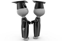 3d man graduation handshake concept Royalty Free Stock Photos