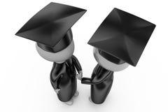 3d man graduation handshake concept Stock Images