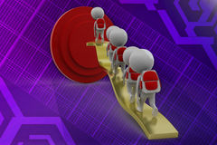 3d man graph arrow illustration Stock Image