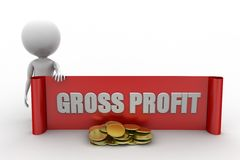 3D man gross profit concept Royalty Free Stock Image