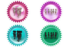 3d man group icon Stock Photography